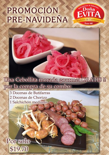promocion pre Navideña Embutidos Doña Evita El Salvador - 07nov13