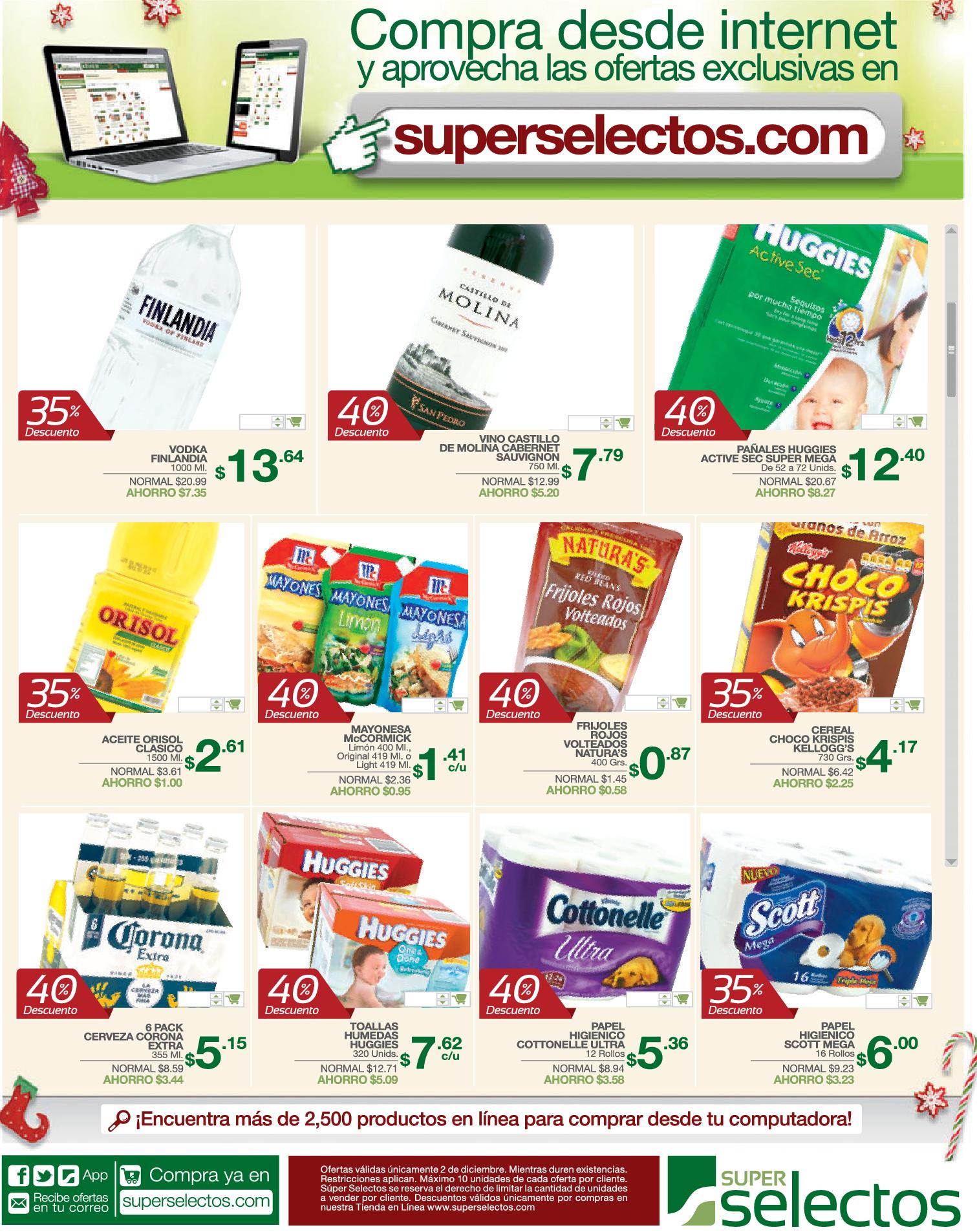 Cyber Monday descuentos en ww.superselectos.com - 02dic13