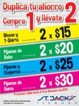 Duplica tu ahorro en Tiendas ST JACKS - 06dic13