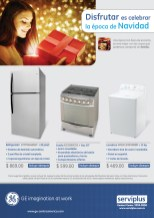 Electrodomesticos GENERAL ELECTRIC ofertas SERVIPLUS - 06dic13