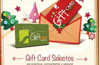 Gift Card selectos es practica conveniente y segura - 20dic13