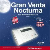 Gran venta noctura FAX Brother termico office depot