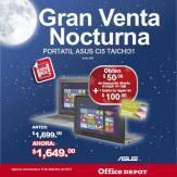 Gran venta noctura office depot Portatil ASUS TAICHI