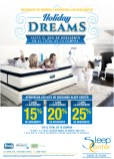 Holiday DREAMS descuento en compras SLEEP CENTER - 12dic13