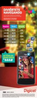 Navega en la red 4G DIGICEL promociones - 28dic13