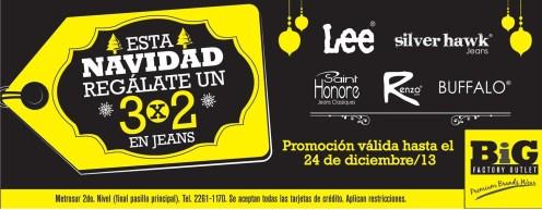 Regala un JEANS en esta navidad PROMOCIONES - 21dic-13