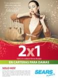 SEARS promocion de hoy 2x1 en carteras para damas - 10dic13