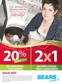 SEARS promocion de hoy 2x1 en ropa caballeros - 09dic13