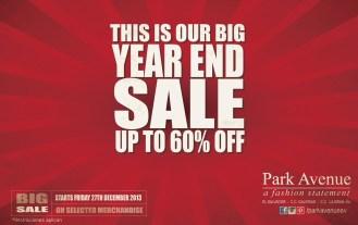 big YEARD end SALE PARK AVENUE promotion - 27dic13