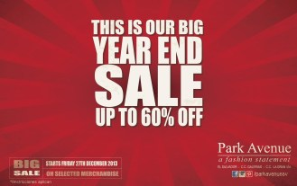 big YEARD end SALE PARK AVENUE promotion - 27dic13