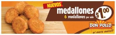 promocion Nuevos medallones DON POLLO el salvador - 09dic13