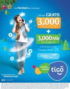 sonrie tienes TIGO promociones minutos y navegacion - 26dic13