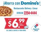Ahorra con DOMINOS promociones pizza medium delivery - 08ene14