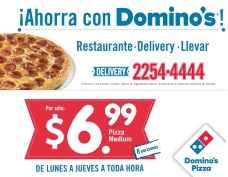 Ahorra con DOMINOS promociones pizza medium delivery - 08ene14