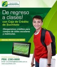 Caja de credito SUCHITOTO creditos de regreso a clases - 10ene14