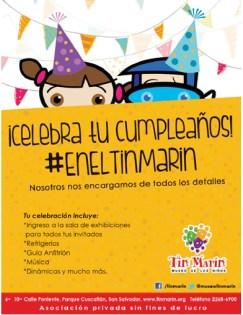 Celebra tu cumpleaños en el MUSEO TIN MARIN el salvador - 31ene14