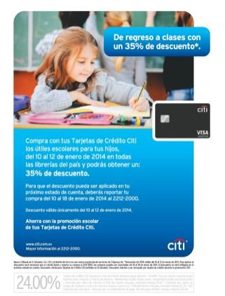 Compra con tarjetas de credito CITI utiles escolares descuento - 09ene14