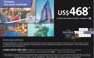 Hard Rock HOtel and cafe PANAMA promotion - 09ene14
