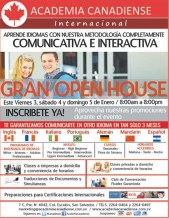 Idiomas Academia Canadiense Internacional FERIA y promociones