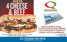Quiznos 4 cheese and Beef promotion - 08ene14