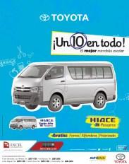 TOYOTA HiAce 10 en todo microbus escolar - 08ene14
