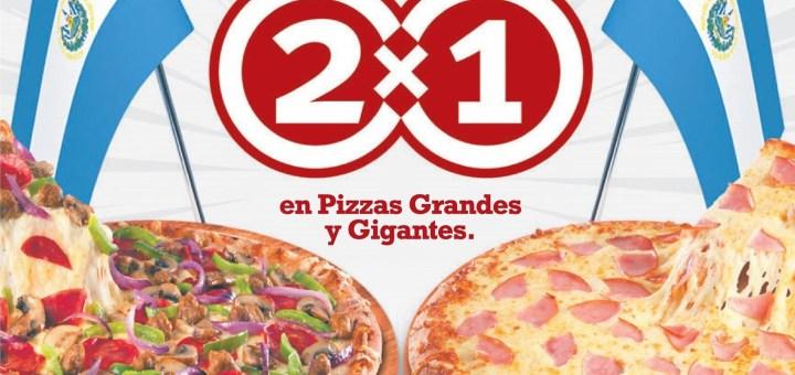 Telepizza el salvador promocion 2x1 este fin de semana - 31ene14