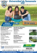 Universidad de Sonsonate USO carreras profesionales 2014