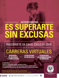 carreras virtuales profesionales Universidad tecnologica de El Salvador - 02ene14