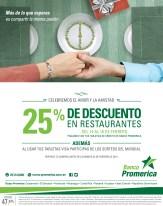 Banco Promerica el salvador DESCUENTOS en restaurante SAN VALENTIN