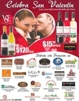 Celebra san valentin con VINO promocion el salvador - 13feb14