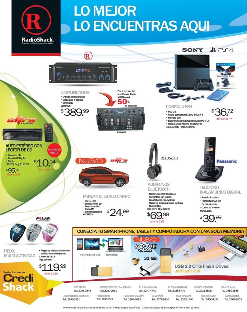 Conectate al mundo digital smartphone RADIOSHACK el salvador - 21feb14