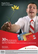 Descuento floristerias tarjetas credito banco DAVIVIENDA el salvador - 13feb14