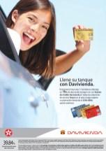 Descuento gasolineras TEXACO tarjetas DAVIVIENDA - 17feb14