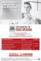 Diplomado aprender EXCEL avanzado y aplicado FEPADE