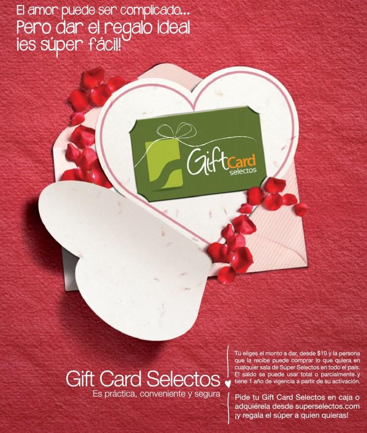 GIFT CARD super selectos SAN VALENTIN - 08feb14
