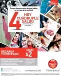 HOY cuadruple saldo RECARGAS CLARO el salvador - 28feb14