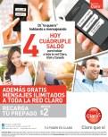 HOy cuadrupe saldo CLARO - 14feb14