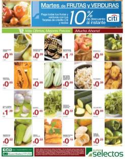 Martes de Frutas y Verduras Super Selectos descuentos - 04feb14