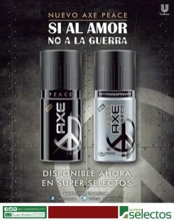 NUEVO AXE PEACE unilever disponible ahora SUPER SELECTOS - 28feb14