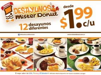 Prueba Festival Desayunos MISTER DONUT el salvador