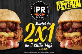Puerco Rico El Salvador martes 2X1 Little pigs - 25feb14