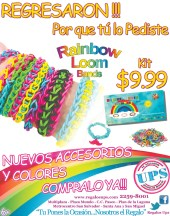 Rainbow loom band UPS el salvador - 14feb14