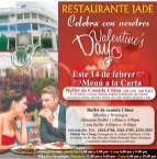 Restaurante JADE el salvador celebra 14 de febrero