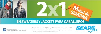 SWEATHERS and Jackets MAN SEARS promociones - 26feb14