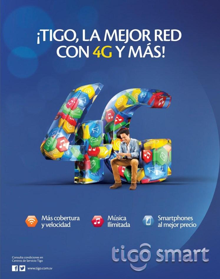 TIGO smart unete a la RED 4G