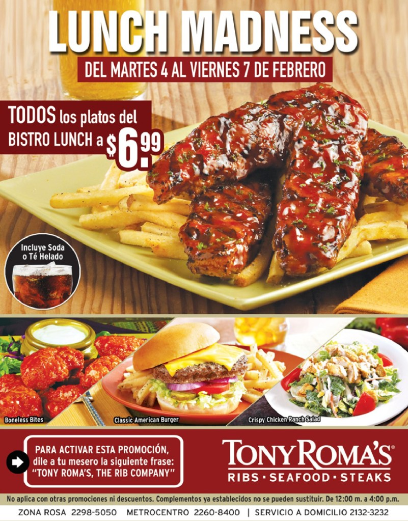 TONY ROMAS el salvador BISTRO LUNCH - 04feb14