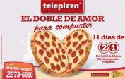 Telepizza el doble de amor - 12feb14