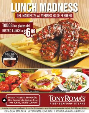 Tony Roma´s E Salvador-lunch, the rib company