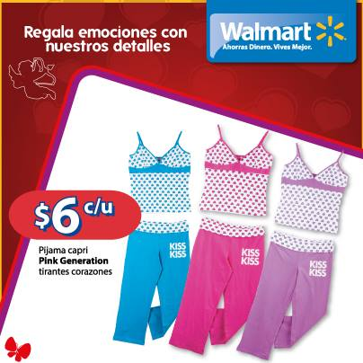 VALENTINE DAY pijamas damas Walmart el salvador - 10feb14