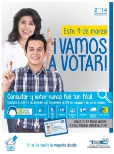 VAMOS a VOTAR Tribunal Supremo Electoral EL SALVADOR